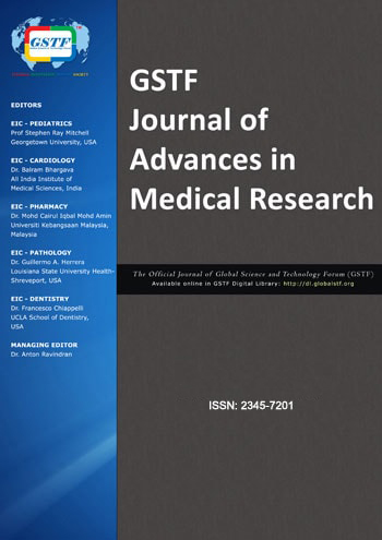 Journal of Advances in Medical Research – JAMR | GSTF Singapore